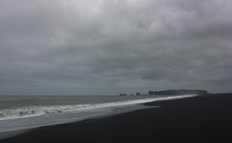 Black Sand Beach And Dyrhólaey