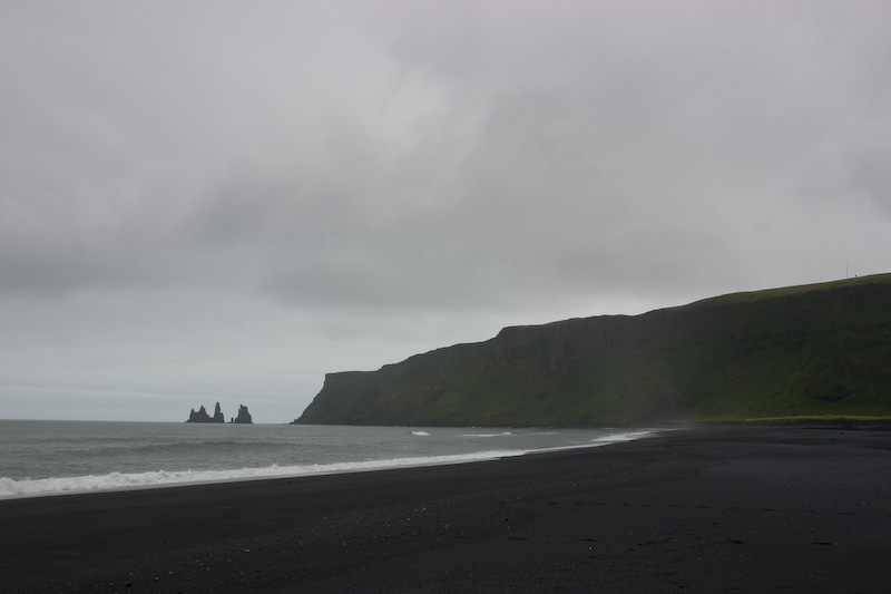 Black Sand Beach And Reynisdrangur