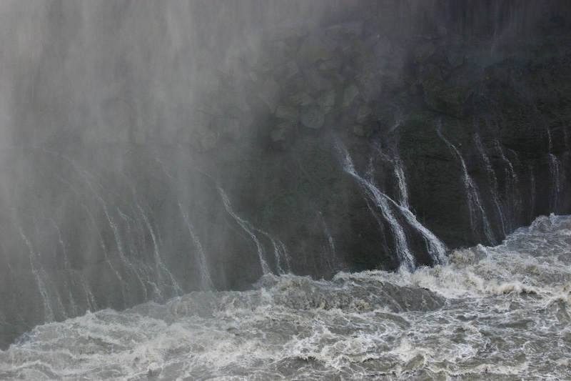 Spray From Dettifoss Running Down Canyon Wall