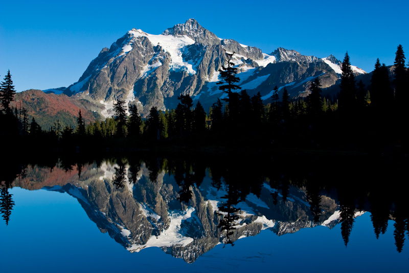 Mount Shuksan Reflected In Picture Lake