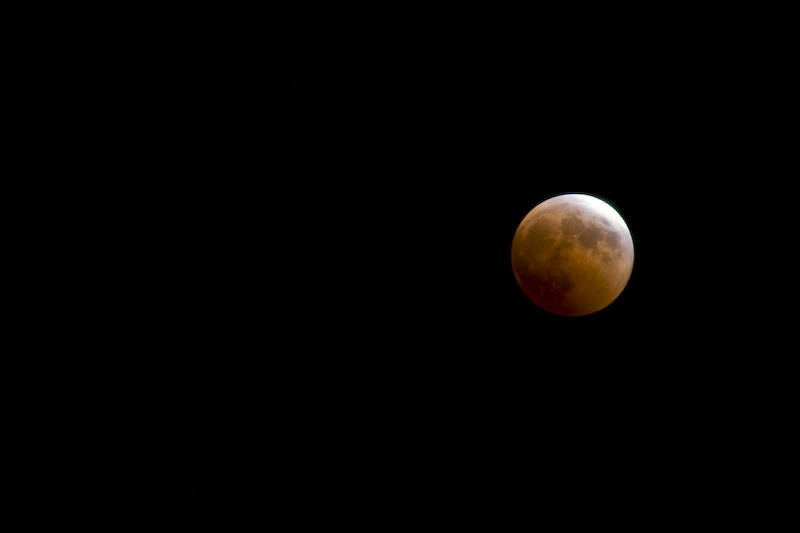 Moon Exiting Total Eclipse