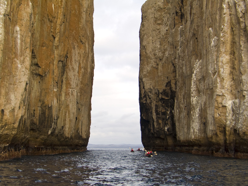 Kayaking Through Kicker Rock