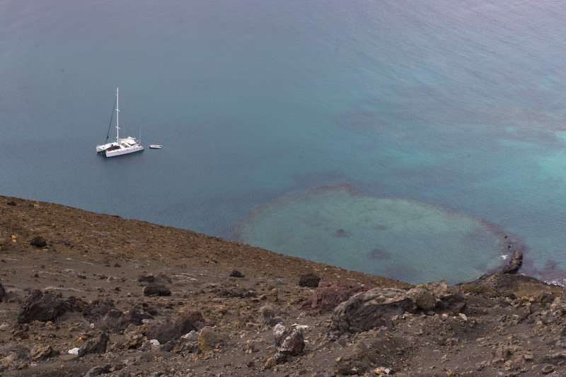 Catamaran And Submerged Crater