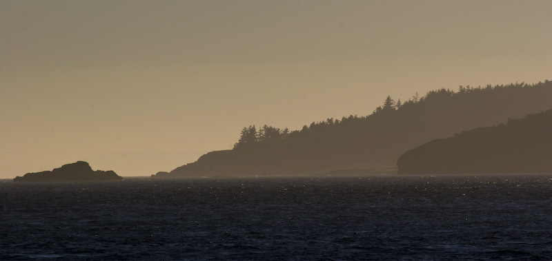 Decatur Island At Sunset