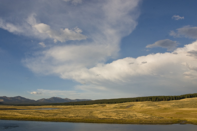 Clouds Above Yellowstone River