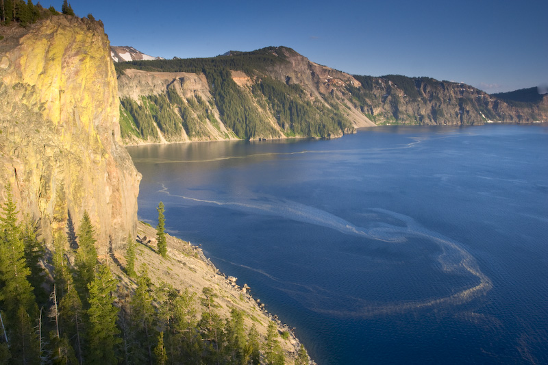 Crater Lake In Late Afternoon Light