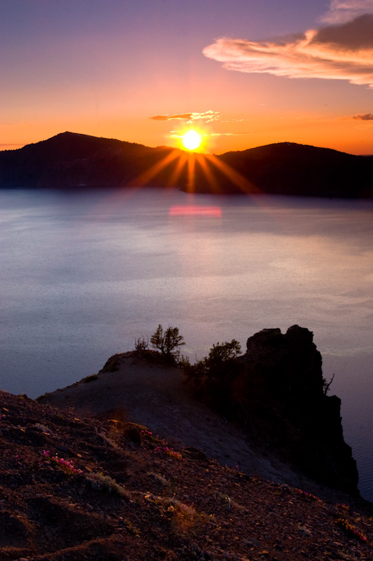 Sunset Over Crater Lake