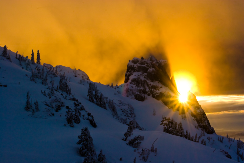 Sunrise From The Slopes Of Mount Ellinor
