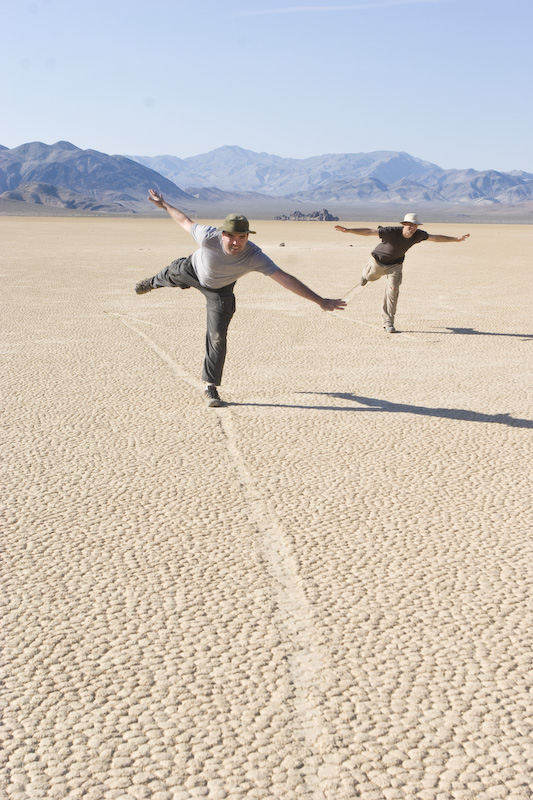 Me And My Friend Zach On The Racetrack Playa