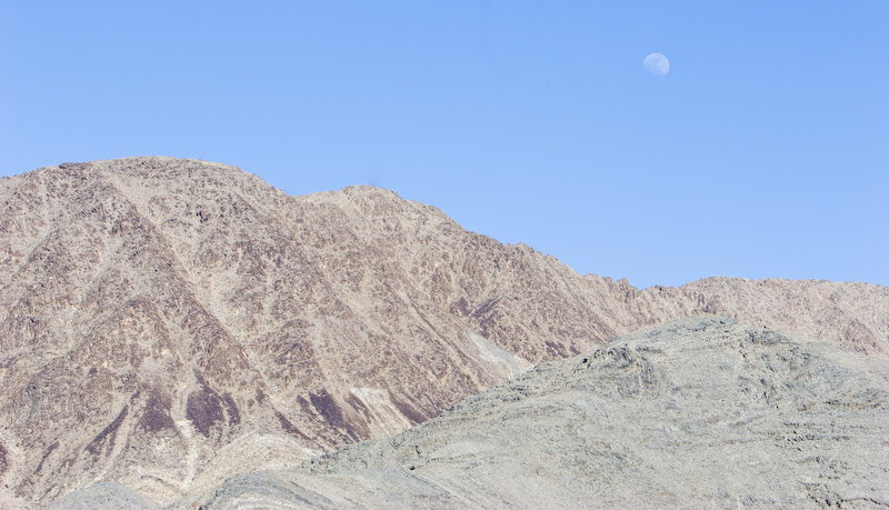 Moon Above Panamint Mountains