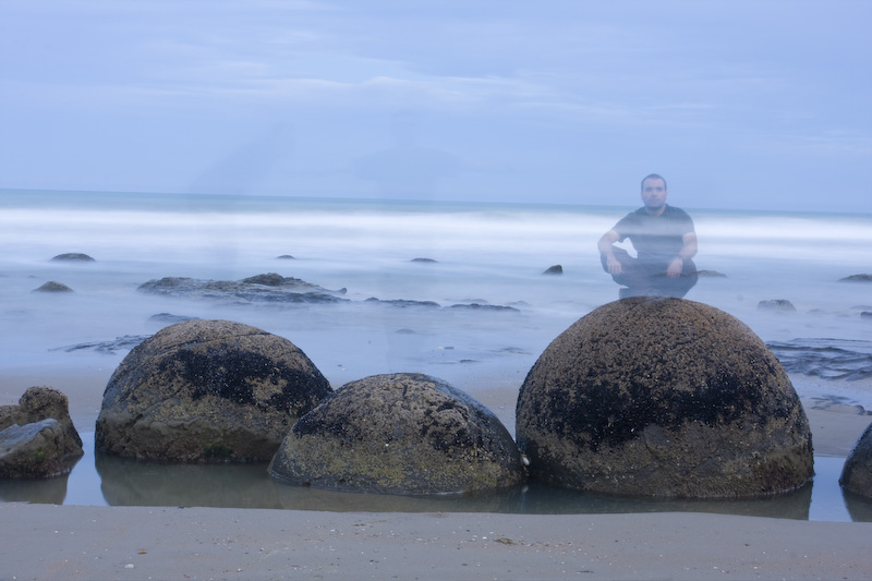 Me On The Moeraki Boulders