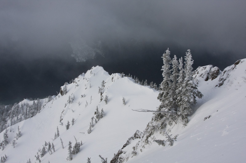 Snow Covered Ridgeline