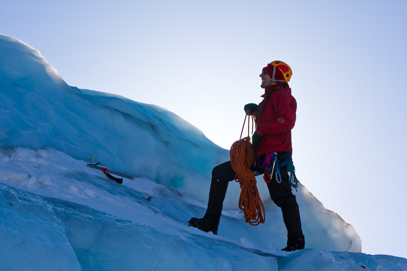 Climber On The Coleman Glacier
