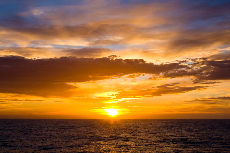 Sunset Over The Southern Ocean