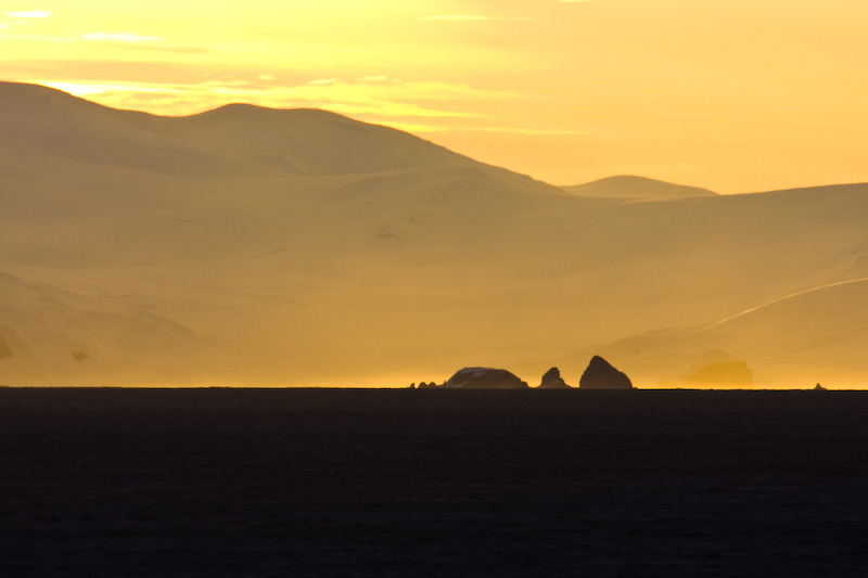 Sunset Over The Antarctic Peninsula