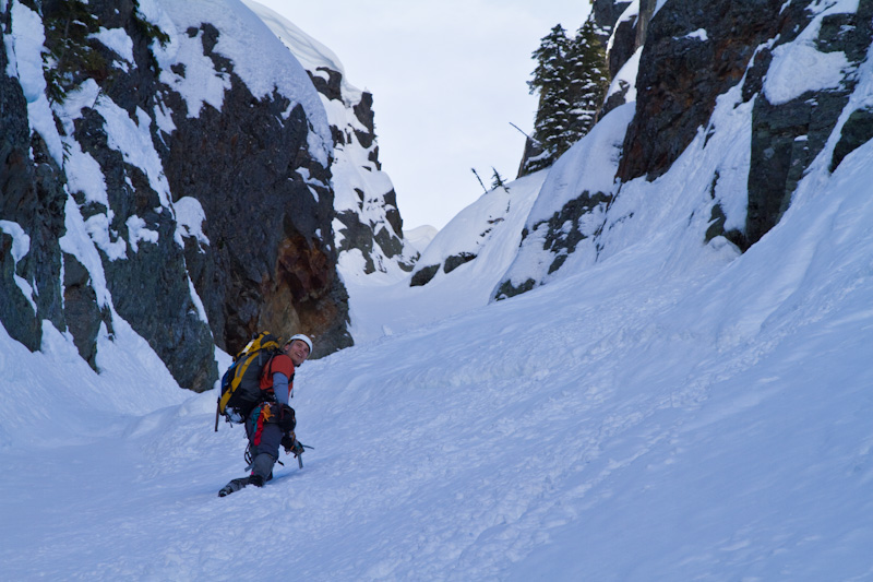 Joe Climbing Couloir