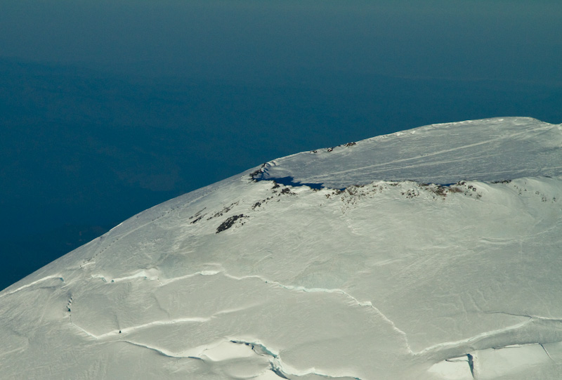 Climbers Approaching Crater Of Mount Rainier