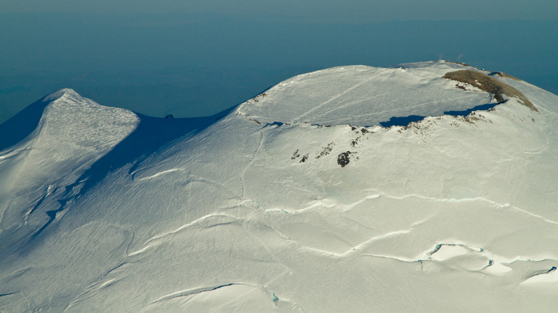 Summit Crater Of Mount Rainier