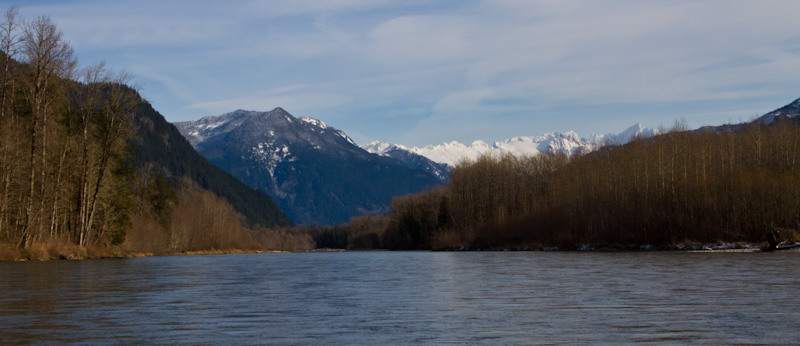 Mountains Above The Skagit River
