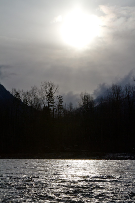 Sun Above The Skagit River