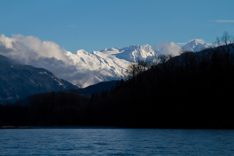 Peaks Above The Skagit River