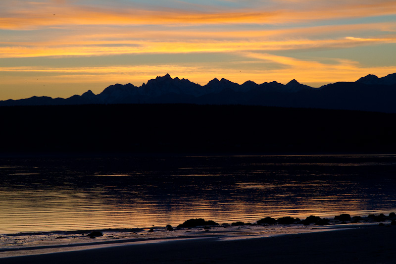 Olympic Mountains And Hood Canal At Sunset