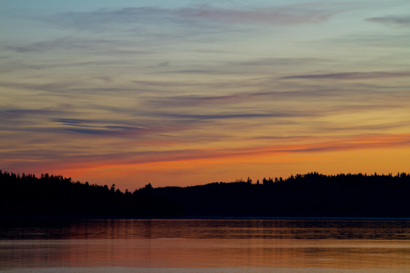 Hood Canal At Sunset