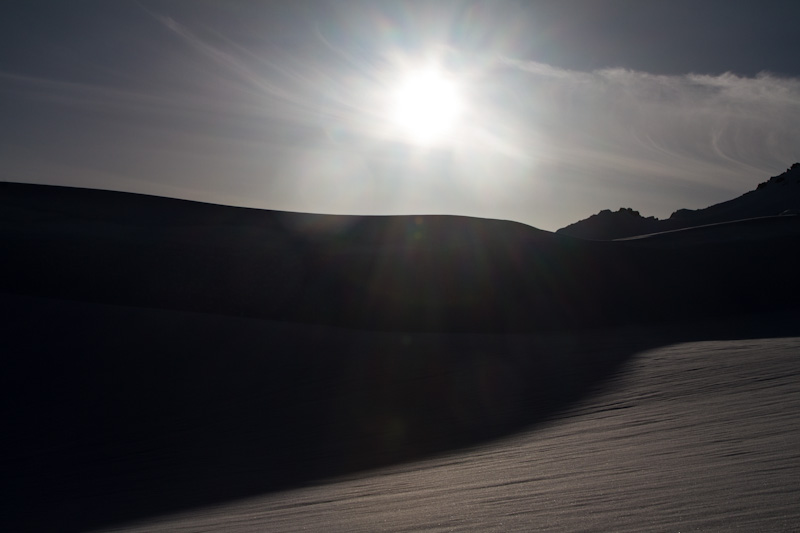 Sun Above Snow Slope
