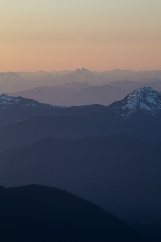 The Cascades At Sunset