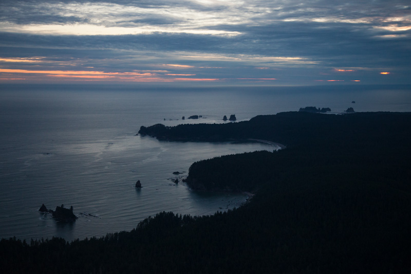 The Olympic Coast At Sunset