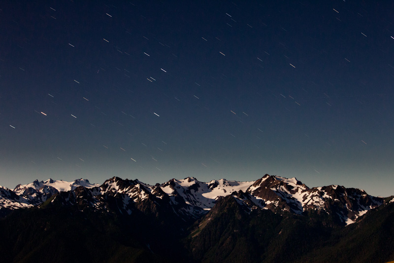 Star Trails Above Mount Olympus