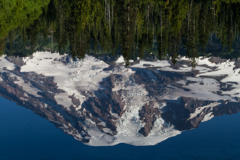 Reflection Of Mount Rainier In Bench Lake
