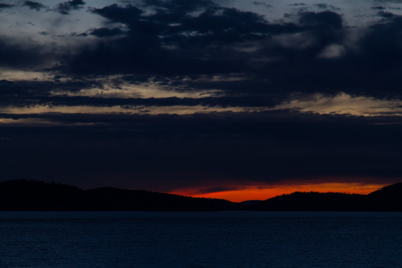 Sunset Behind The San Juan Islands