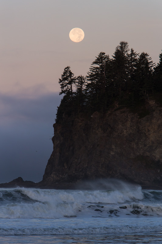 Moon Over Seastack