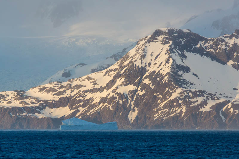 Icebergs And Mountains