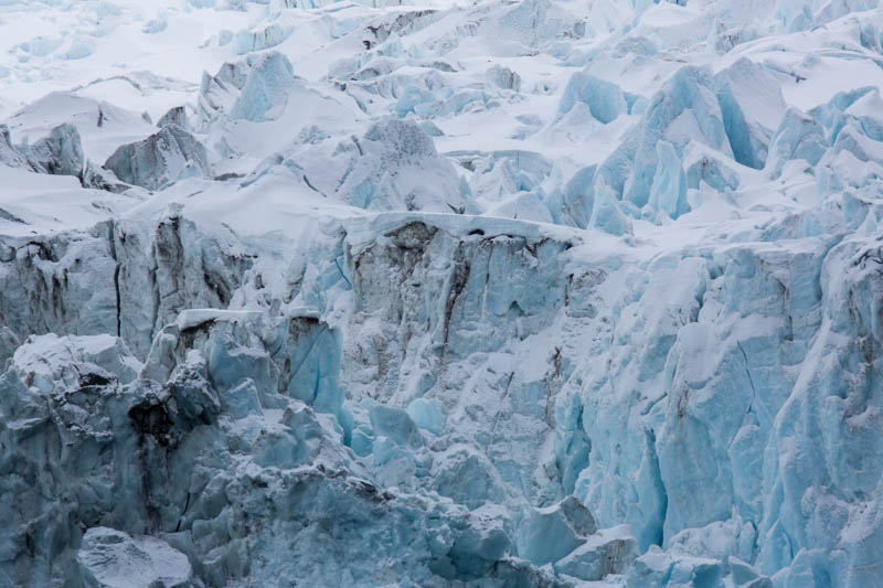 Detail Of The Risting Glacier