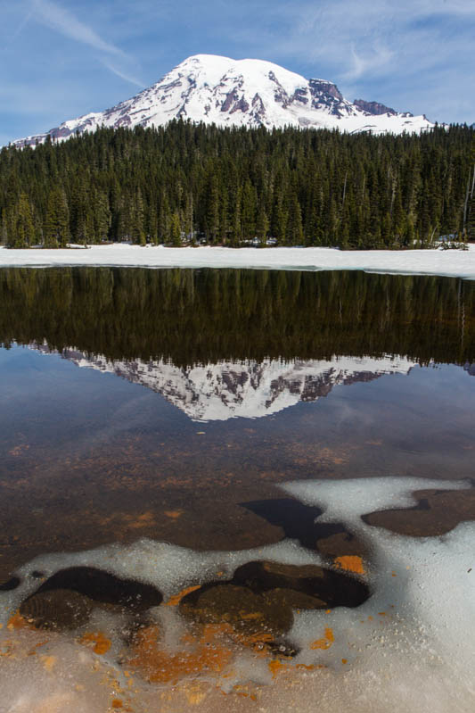 Mount Rainier Reflected In Reflection Lake