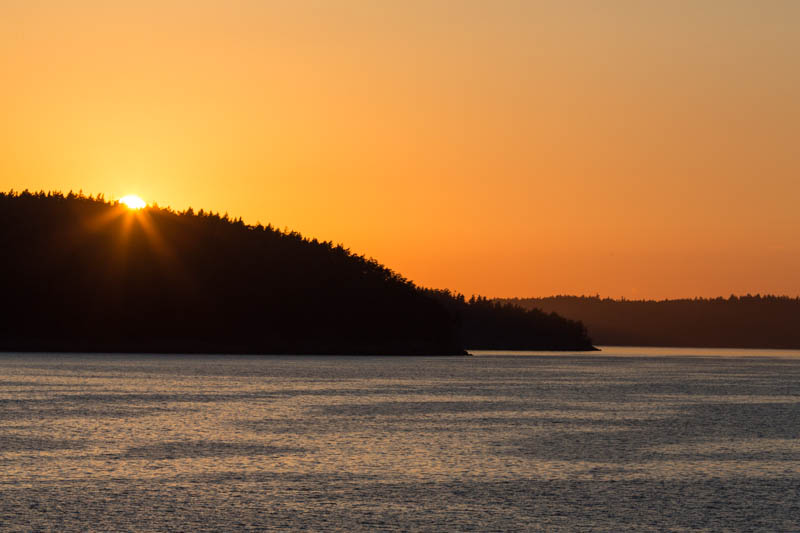 San Juan Islands At Sunset