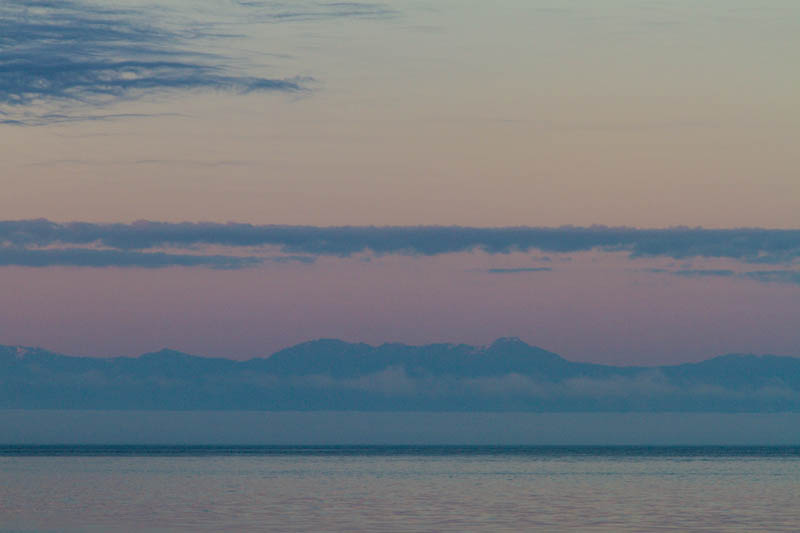 Olympic Mountains At Sunrise