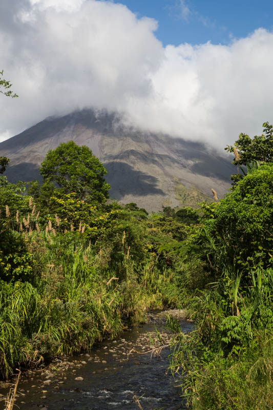 Volcan Arenal And Stream