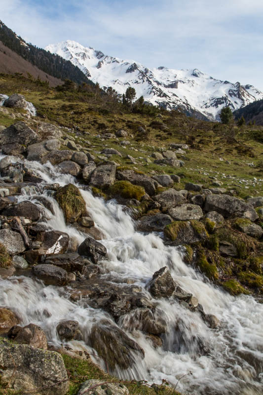 Small Cascade And The Pyrenees