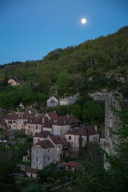 Moon Over Saint-Cirq-Lapopie