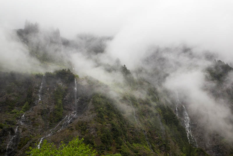 Waterfalls Obscurred By Mist