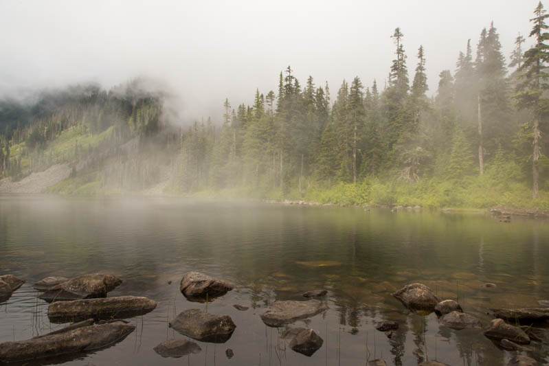 Pratt Lake In Fog