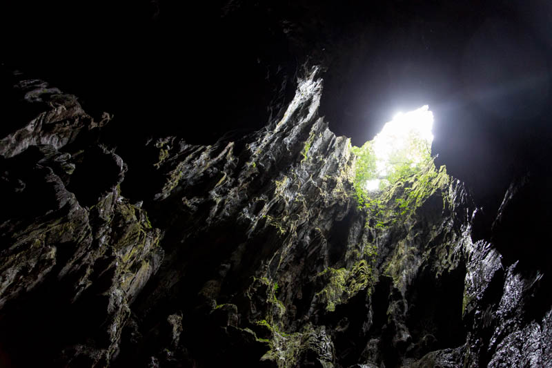 Skylight In Cave Of The Winds