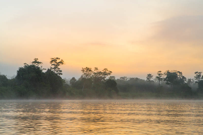 The Kinabatangan River At Sunrise