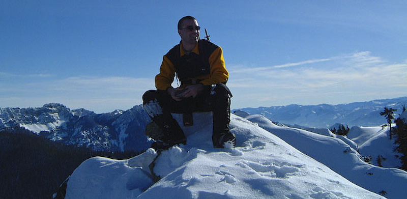 Me On Top Of Guye Peak, My First Alpine Climb