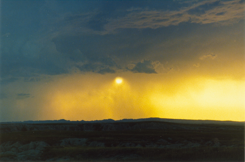 Sunset Over Badlands
