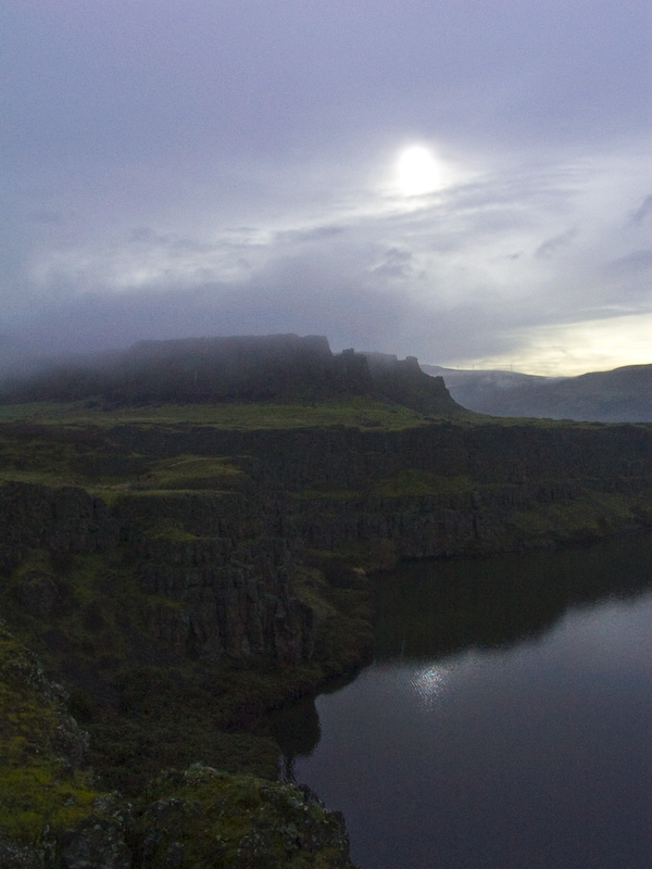 Cloudy Sunrise Over The Columbia River