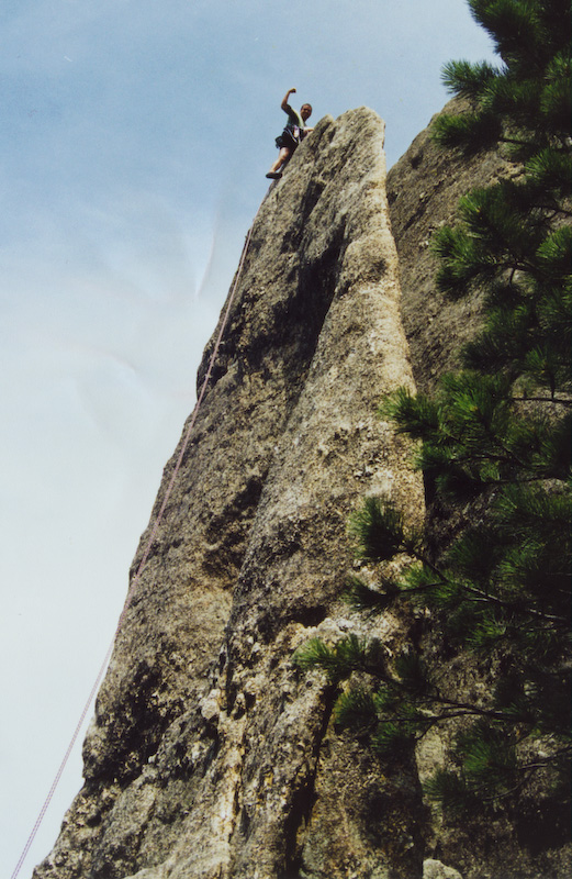 Me On Top Of Gossamer, One Of My First Lead Climbs